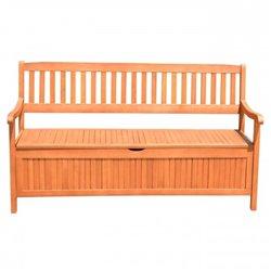 Dřevěná zahradní lavice s úložným prostorem, HOUSTON