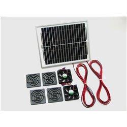 Solární větrací systém 10W, 130m3/ h