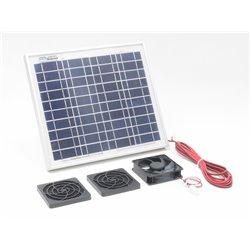 Solární větrací systém 10W, 55m3/ h