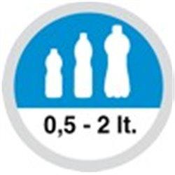 Slunečník modrý, 6-dílný, prům.300cm