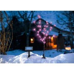 Solární LED kvetoucí keř - růžové květy