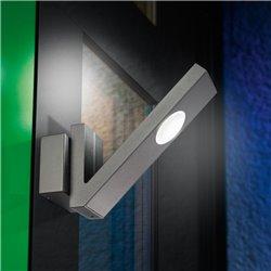 LED nástěnné venkovní svítidlo V-LINE - černé, esotec