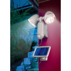 Solární nástěnné svítidlo - DUO POWER, černé