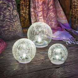 """Solární světelná koule """"Crackle Balls"""" 3 ks, esotec"""