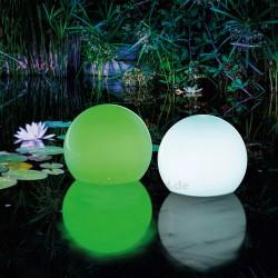 Solární svítící koule 20 cm, multicolor 2 ks, esotec