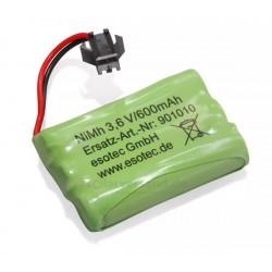 Dobíjecí baterie Akupack NiMh 3,6 V/600mAh, esotec
