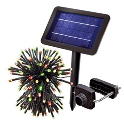 Solární světelný řetěz 100 LED - barevný